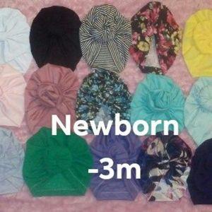 New newborn-3m turban beanies